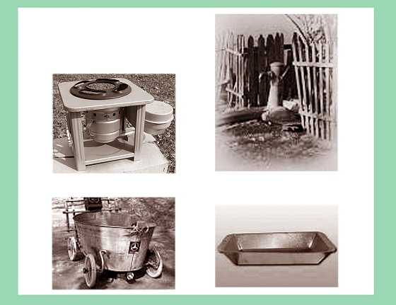 Керогаз, колонка, ванночка, корыто