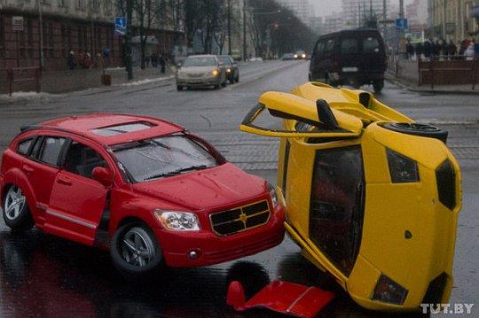 Авария ламборджини в Минске
