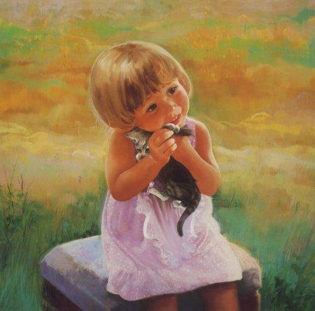 Девочка на лугу